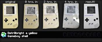 How To Wash Bright Colors - retr0bright how to turn a yellow gameboy white again the easy