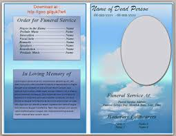 free funeral programs free editable funeral program template template business
