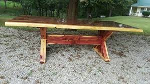 live edge outdoor table cedar table x frame dining table cedar dining table picnic