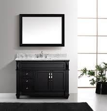 virtu usa victoria 48 single bathroom vanity set in espresso