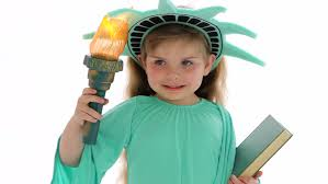 Statue Liberty Halloween Costume Young Dressed Statue Liberty Stock Footage Video