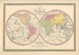 Accurate Map Of The World Antique World Maps From The Philadelphia Print Shop