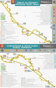 Ohio Canal Map by Gap Trail And C U0026o U2014 Bikabout