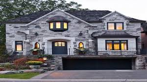 House On Slope New House Ideas House On Slope With Stone Front Stone Front House