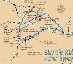 New Mexico Map With Cities And Towns by Billy The Kid National Scenic Byway Jpg 1 342 1 163 Pixels