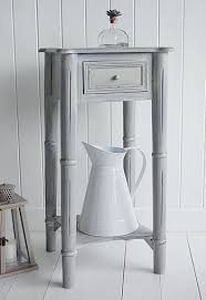 Grey Accent Table Side Table Narrow White Side Table Narrow Bedside Tables White