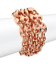 rose link bracelet images Lyst gucci marina chain 18k rose gold link bracelet in pink jpeg