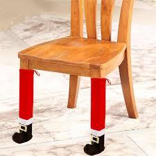 chair foot covers 1pcs table santa claus leg chair foot covers table decor new