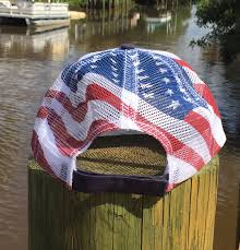 Country American Flag American Flag Trucker Hat Country Shore
