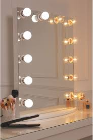 Vanity Mirror With A Pure White Finish Framed With 12 Led Golf Size