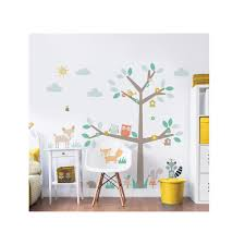 walltastic green woodland tree and friends wall stickers wt44647 walltastic green woodland tree and friends wall stickers wt44647 the home depot