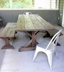 100 trestle bench plans furniture hexagon table picnic