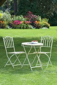 Metal Folding Patio Chairs by Greenhurst Versailles Patio Metal Folding Bistro Set Antique Cream
