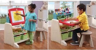 step 2 easel desk amazon step2 flip doodle easel desk with stool only 40 99