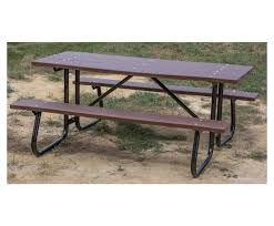 recycled plastic picnic tables 8 ft recycled plastic picnic table with welded steel frame