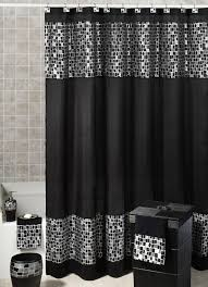 black and silver bathroom ideas gorgeous black shower curtain design ideas for simply awesome look