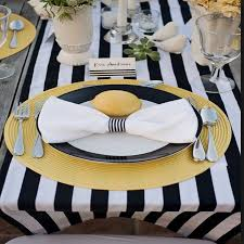 black and white table runners cheap black and white satin stripe table runner by magpie decor