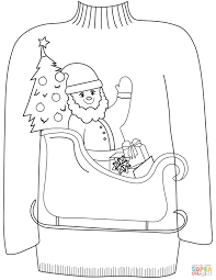 christmas sweaters coloring pages free coloring pages