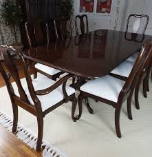 gorgeous ethan allen mahogany dining table and eight chairs ebth