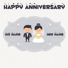 wedding wishes editing happy wedding anniversary profile pics with name