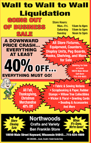 closing sale liquidation northwoods craft variety hayward wi
