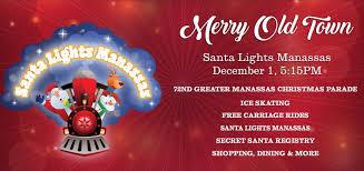 santa lights manassas historic manassas