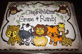 ideas for jungle theme baby shower cakes