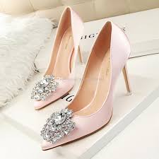 wedding shoes 2017 2017 pink wedding shoes with crystals beaded pointed toe high