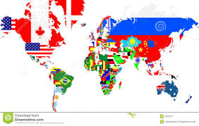 Outline Map Of The World by Large Group Of World People With World Map Stock Photos Image