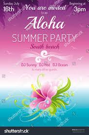 sunset beach sea poster hawaiian luau stock vector 623627783