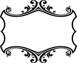 clipart decorative ornamental flourish frame aggrandized 27