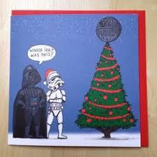 wars christmas set of 6 illustrated wars christmas cards