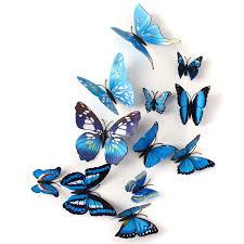 pcs blue butterfly wall stickers art decals home wedding pcs blue butterfly wall stickers art decals home wedding party decoration