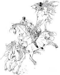 4 horsemen of the apocalypse digital art by stephanie louden