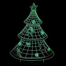 tree 3d led lights colorful touch light gift usb