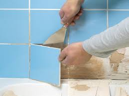 repairing a damaged tile shower cubicle diy