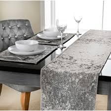crushed velvet table runner 33 x 235cm tableware dinner table