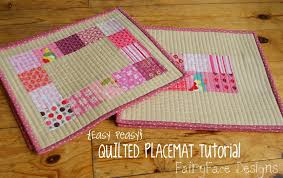 fairyface designs easy peasy quilted placemats tutorial