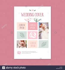 Wedding Magazine Template Vector Wedding Template Cover Booklet The Cover Of The Brochure