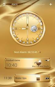 theme clock gold go clock theme android apps on play