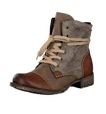 rieker s boots uk lace up boot brown 70822 24