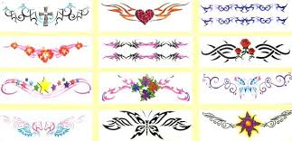 free skech of tribal lower back designs pictures