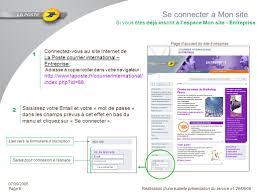si e la poste introduction la poste courrier international propose sur site