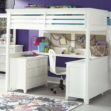 girls loft bed with a desk and vanity amazing chelsea vanity loft bed pbteen inside full size loft beds