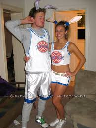 halloween college party ideas last minute space jam bugs bunny and lola bunny couple costume
