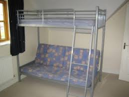 metal high sleeper u0027sit and sleep u0027 futon bunk bed incorporating