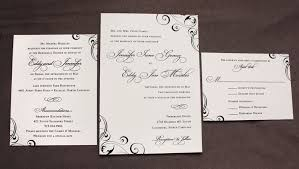 Elegant Wedding Invitations Formal Black U0026 Cream Elegant Swirls U0026 Scrolls Wedding Invitations