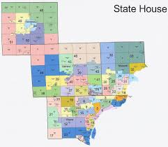 Counties In Michigan Map by Michigan State House District Map Michigan Map
