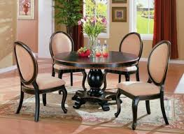 dining room elegant grey dining room with round dining table and