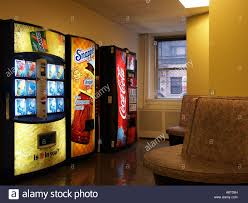 foyer area soft drink vending machines in a lobby or foyer area by artificial